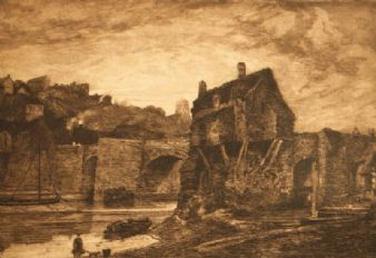 Frank Short; 'Bridgnorth' after Thomas Girtin 1885